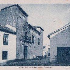 Postales: POSTAL RONDA 17 - MALAGA - CASA MONDRAGON - FACHADA - ROISIN. Lote 89667248