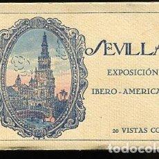 Postales: SEVILLA BLOC COMPLETO CON 20 POSTALES EXPOSICION IBERO AMERICANA. ED. C.R.S.. Lote 90137704