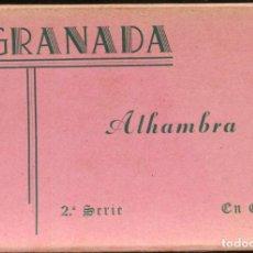 Postales: GRANADA - ALHAMBRA 2ª SERIE- ACORDEON CON 10 POSTALES EDIT. ZERKOWITZ. Lote 90737665