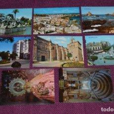 Postales: LOTE DE 8 POSTALES ANTIGUAS - ALMERIA - PRECIOSAS, MUY ANTIGUAS - AÑOS 60 - HAZME OFERTA. Lote 91576245