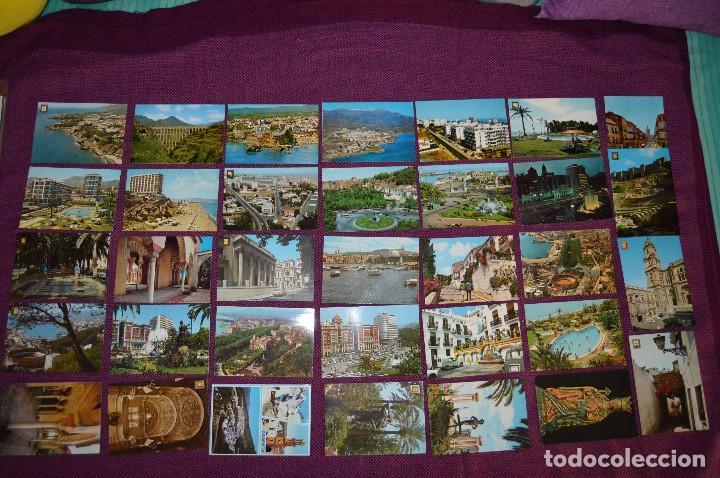 LOTE DE 34 POSTALES ANTIGUAS - MÁLAGA Y PROVINCIA - PRECIOSAS, MUY ANTIGUAS - AÑOS 60 - HAZME OFERTA (Postales - España - Andalucia Moderna (desde 1.940))