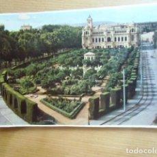 Postales: MALAGA. AYUNTAMIENTO Y JARDINES.. Lote 91843930