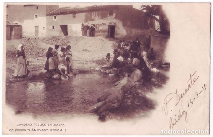 JAYENA (GRANADA): LAVADERO PÚBLICO EN JAYENA. COLECCIÓN CÁNOVAS. SIN DIVIDIR. CIRCULADA (1901) (Postales - España - Andalucía Antigua (hasta 1939))