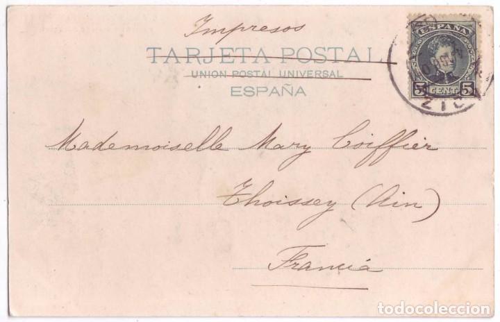 Postales: Jayena (Granada): Lavadero Público en Jayena. Colección Cánovas. Sin dividir. Circulada (1901) - Foto 2 - 92290885