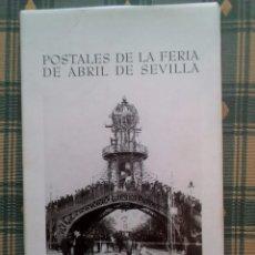 Postales: TUBAL POSTALES DE LA FERIA DE ABRIL DE SEVILLA ALBUM CARPETA CON 10 POSTALES PERFECTAS. Lote 92722825