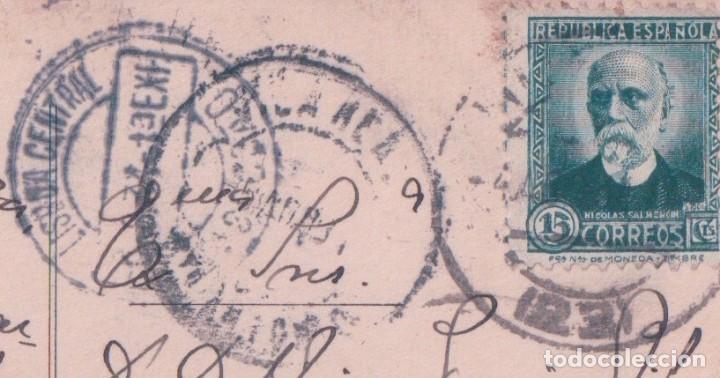Postales: POSTAL HUELVA: PLAZA DE LAS MONJAS . EDICIÓN NICOLAS POMAR 11 - CIRCULADA - Foto 3 - 93187690