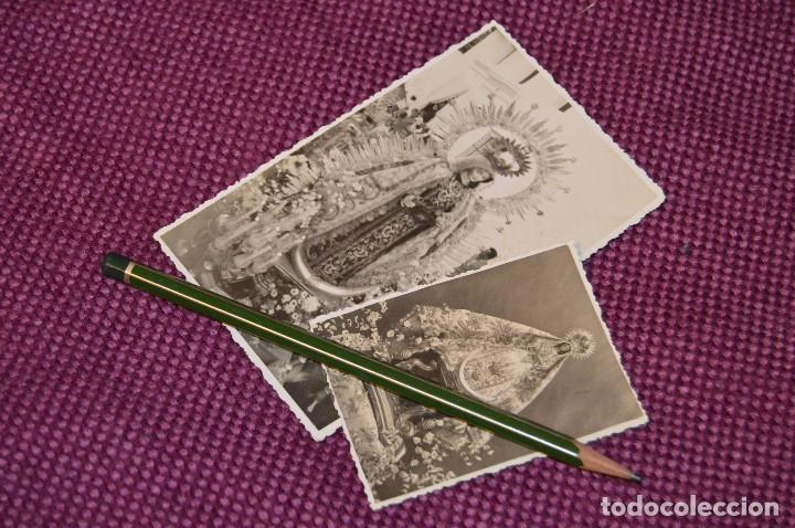 LOTE DE 2 ANTIGUAS POSTALES SIN CIRCULAR DE NUESTRA SEÑORA DEL CARMEN - GRAZALEMA - VINTAGE (Postales - España - Andalucía Antigua (hasta 1939))