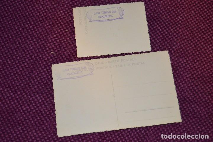 Postales: LOTE DE 2 ANTIGUAS POSTALES SIN CIRCULAR DE NUESTRA SEÑORA DEL CARMEN - GRAZALEMA - VINTAGE - Foto 2 - 94183460