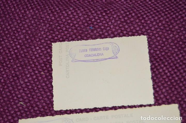 Postales: LOTE DE 2 ANTIGUAS POSTALES SIN CIRCULAR DE NUESTRA SEÑORA DEL CARMEN - GRAZALEMA - VINTAGE - Foto 3 - 94183460