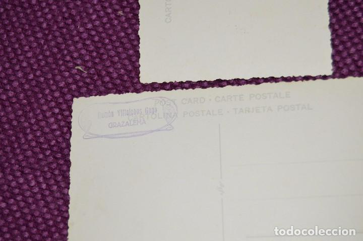 Postales: LOTE DE 2 ANTIGUAS POSTALES SIN CIRCULAR DE NUESTRA SEÑORA DEL CARMEN - GRAZALEMA - VINTAGE - Foto 4 - 94183460