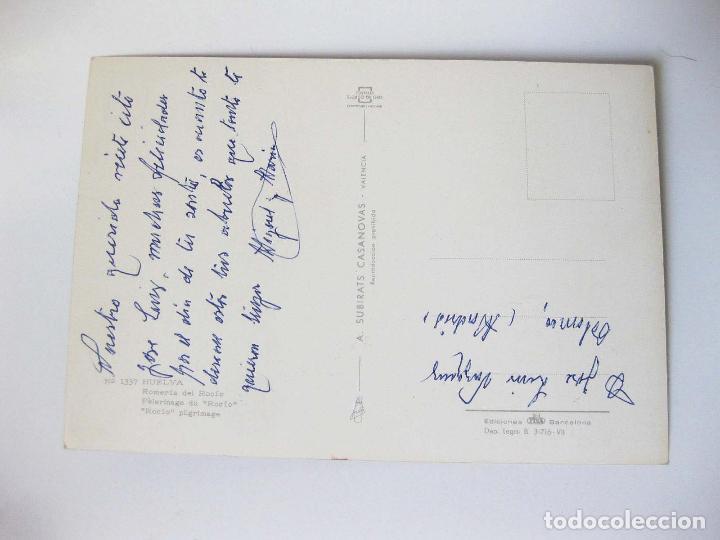 Postales: POSTAL DE LA ROMERIA DEL ROCIO EN HUELVA - A. SUBIRATS CASANOVAS - Foto 2 - 94359106