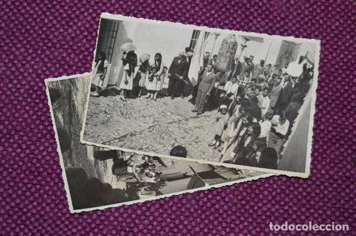 LOTE DE 2 ANTIGUAS POSTALES SIN CIRCULAR - DESFILES PROCESIONALES - GRAZALEMA - VINTAGE - HAZ OFERTA (Postales - España - Andalucía Antigua (hasta 1939))