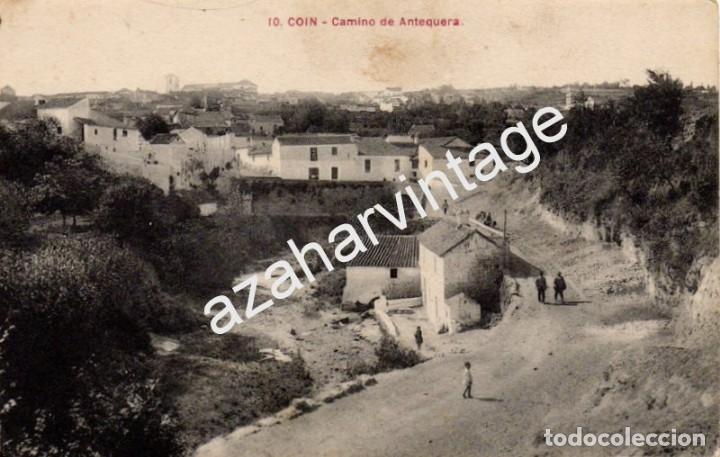 COIN, MALAGA, CAMINO DE ANTEQUERA, MUY RARA (Postales - España - Andalucía Antigua (hasta 1939))