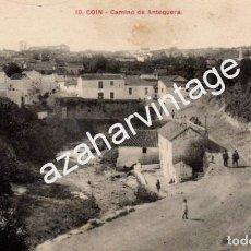 Postales: COIN, MALAGA, CAMINO DE ANTEQUERA, MUY RARA. Lote 95152931
