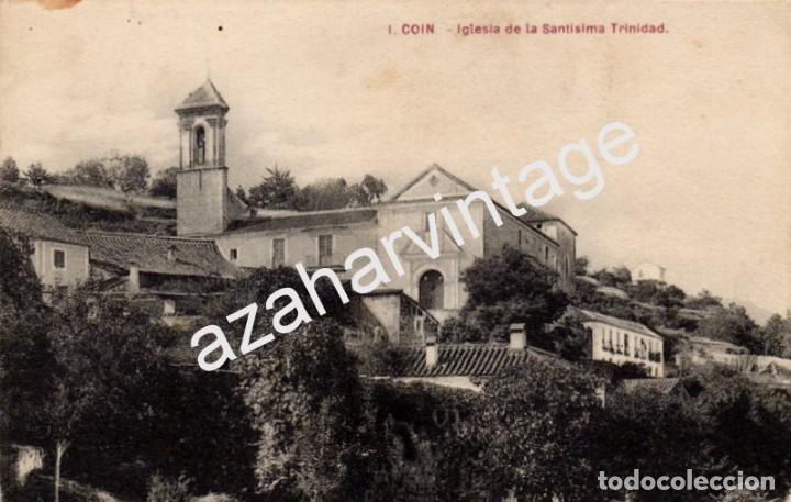 COIN, MALAGA, IGLESIA DE LA SANTISIMA TRINIDAD, MUY RARA (Postales - España - Andalucía Antigua (hasta 1939))