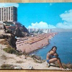 Postales: TORREMOLINOS - PLAYA DE BAHONDILLO. Lote 95455315