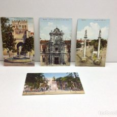 Postales: LOTE DE 4 POSTALES DE SEVILLA EDICIONES EL SOL Y COL. TOMAS SANZ. Lote 95947583