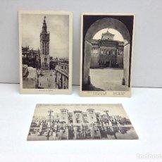 Postales: LOTE DE 3 POSTALES DE SEVILLA EDICIONES ABELARDO LINARES - MUMBRU - M.ARRIBAS . Lote 95948143