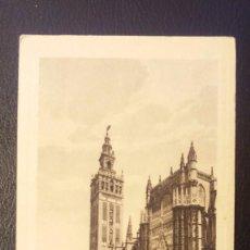 Postales: POSTAL SEVILLA, GIRALDA Y PATIO DE LOS NARANJOS, LUJO GRABADO 4. Lote 95955963