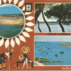 Postales: PUNTA UMBRIA .- DIVERSOS ASPECTOS .- ESCUDO DE ORO Nº 1422. Lote 95970887