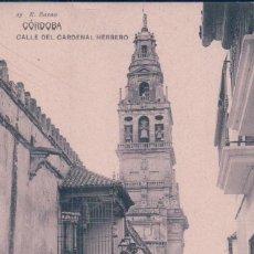 Postales: POSTAL CORDOBA - CALLE DEL CARDENAL HERRERO - 25 R BAENA - HAUSER Y MENET MADRID. Lote 96111939