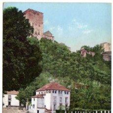 Postales: PRECIOSA POSTAL - GRANADA - VISTA DEL DARRO Y LA ALHAMBRA. Lote 96613127