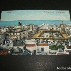 Postales: CADIZ VISTA GENERAL Y EL MERCADO ED. PURGER Nº 2679 DIVIDIDO . Lote 96653691