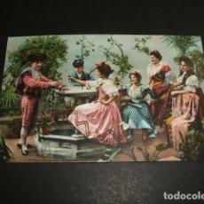 Postales: COSTUMBRES ANDALUZAS DESPUES DE LA CORRIDA ED. PURGER Nº 2137 COL. TOMAS SANZ 21 REVERSO DIVIDIDO . Lote 96656383