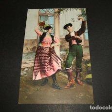 Postales: ANDALUCIA COSTUMBRES ANDALUZAS LA MALAGUEÑA Y EL TORERO ED. PURGER Nº 2139 TOMAS SANZ 23 DIVIDIDO. Lote 96656979