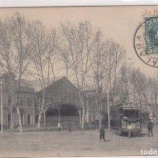 Postales: MALAGA - LA ESTACIÓN - TRANVIA. Lote 96684763