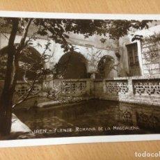 Postales: ANTIGUA POSTAL FUENTE ROMANA LA MAGDALENA JAEN. Lote 96826459