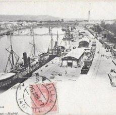 Postales: P- 7284. POSTAL SEVILLA, EL MUELLE. HAUSER Y MENET 103.. Lote 96858051