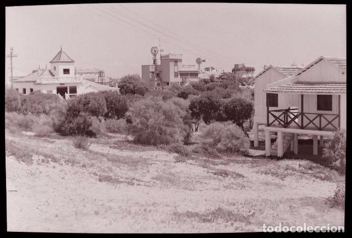 CLICHE ORIGINAL - HUELVA, NEGATIVO EN CELULOIDE - PUNTA UMBRIA- EDICIONES ARRIBAS (Postales - España - Andalucía Antigua (hasta 1939))