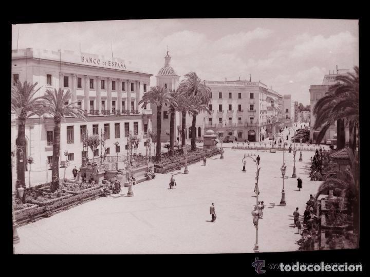 CLICHE ORIGINAL - HUELVA, NEGATIVO EN CELULOIDE - PLAZA JOSE ANTONIO - EDICIONES ARRIBAS (Postales - España - Andalucía Antigua (hasta 1939))