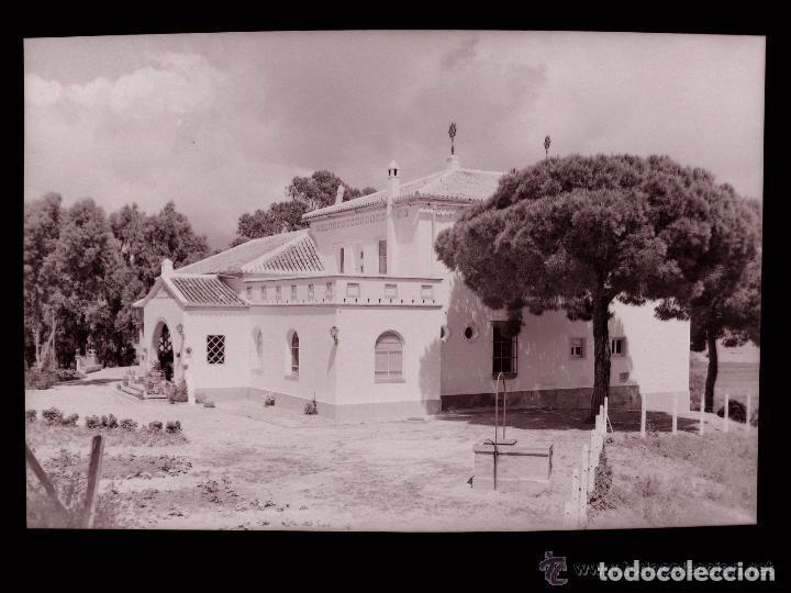 CLICHE ORIGINAL - HUELVA, NEGATIVO EN CELULOIDE - HOSTERIA LA RABIDA - EDICIONES ARRIBAS (Postales - España - Andalucía Antigua (hasta 1939))