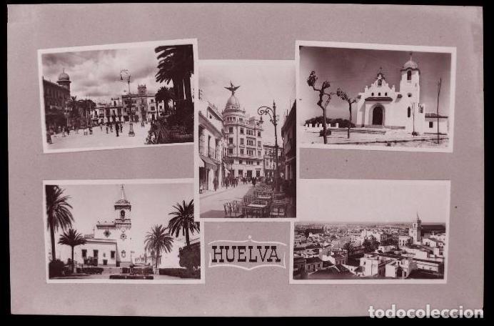 CLICHE ORIGINAL - HUELVA, NEGATIVO EN CELULOIDE -VISTAS - RECUERDO - EDICIONES ARRIBAS (Postales - España - Andalucía Antigua (hasta 1939))