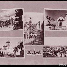 Postales: CLICHE ORIGINAL - HUELVA, NEGATIVO EN CELULOIDE -VISTAS - RECUERDO - EDICIONES ARRIBAS. Lote 96966891