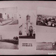 Postales: CLICHE ORIGINAL - HUELVA, NEGATIVO EN CELULOIDE - VISTAS - RECUERDO - EDICIONES ARRIBAS. Lote 96967339