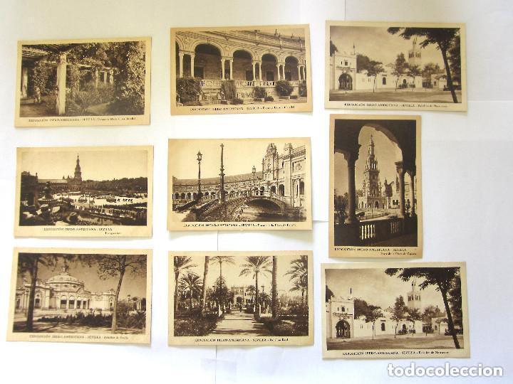 SEVILLA EXPOSICIÓN IBEROAMERICANA 8 POSTALES PABELLÓN DE SEVILLA INAGURACIÓN IBERO AMERICANA (Postales - España - Andalucía Antigua (hasta 1939))