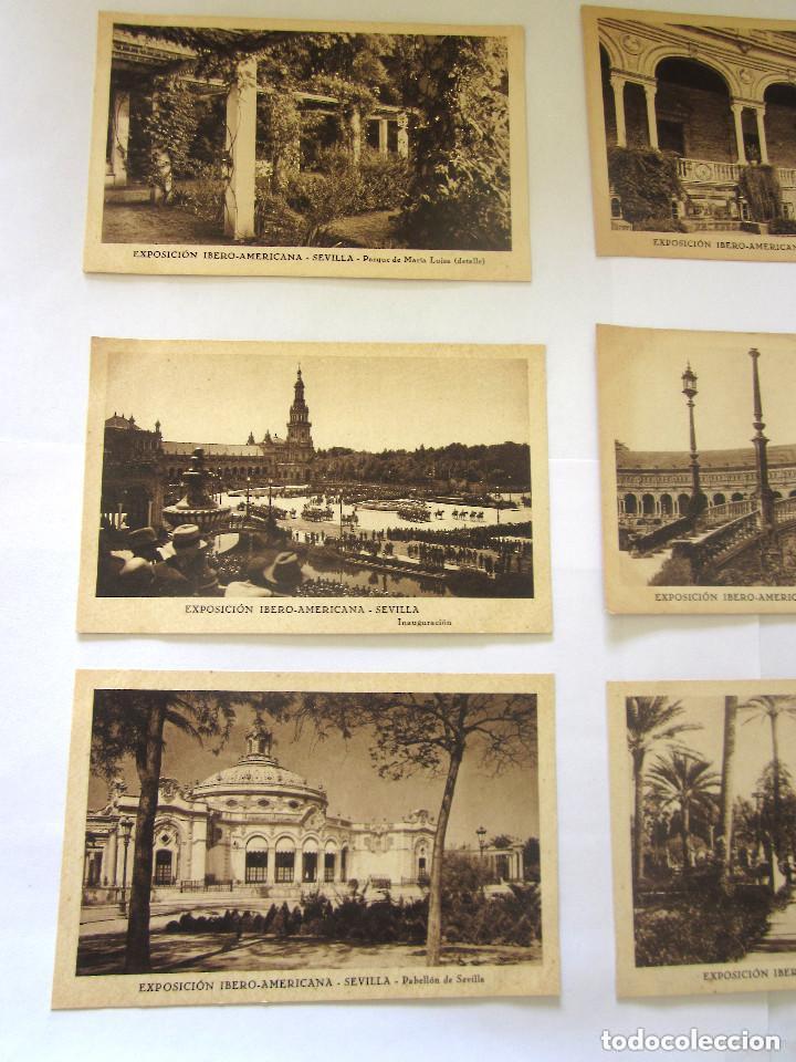 Postales: Sevilla Exposición Iberoamericana 8 postales Pabellón de Sevilla Inaguración Ibero Americana - Foto 2 - 97120135