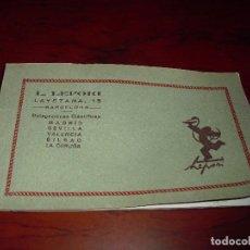 Postales: LOTE POSTALES GRANADA PUBLICIDAD LABORATORIOS LEPORI ANTIGUAS. Lote 97635183