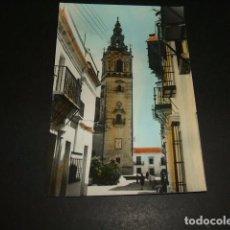 Postales: MOGUER HUELVA TORRE DE LA IGLESIA PARROQUIAL. Lote 97644607