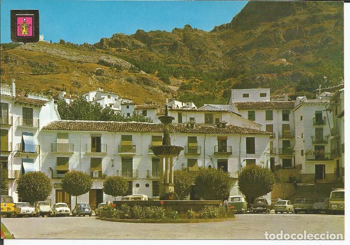 POSTAL CAZORLA (JAÉN) - PLAZA DE LOS MÁRTIRES - SUBIRATS 1970 (COCHES, SEAT 600..) (Postales - España - Andalucia Moderna (desde 1.940))