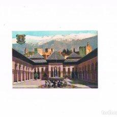 Postales: POSTAL ANTIGUA ANDALUCIA GRANADA CIRCULADA PATIO DE LOS LEONES. Lote 97945263