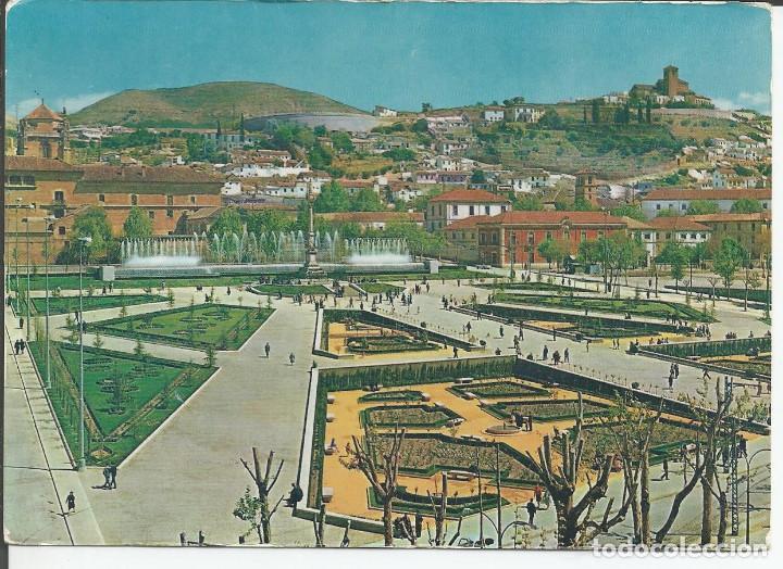 POSTAL GRANADA - JARDINES Y FUENTE MONUMENTAL DEL TRIUNFO - ARRIBAS 1961 (Postales - España - Andalucia Moderna (desde 1.940))
