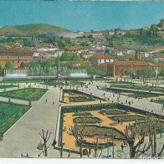 Postales: POSTAL GRANADA - JARDINES Y FUENTE MONUMENTAL DEL TRIUNFO - ARRIBAS 1961. Lote 98131103