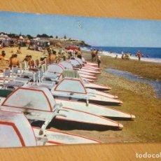 Postales: ANTIGUA POSTAL PLAYA MONTEMAR TORREMOLINOS MALAGA. Lote 98794083
