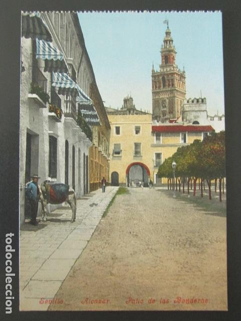 Postal Sevilla Alcazar Patio De Las Banderas Buy Old Postcards