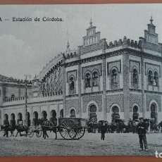 Postales: POSTAL SEVILLA Nº 23 ESTACION DE CORDOBA CARRETAS Y CABALLOS. Lote 100509391