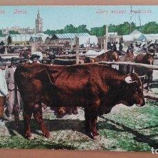 Postales: POSTAL SEVILLA Nº 74 FERIA TORO MANSO PREMIADO COLECCION TOMAS SANZ PURGER & CO ANDALUCIA. Lote 100510111